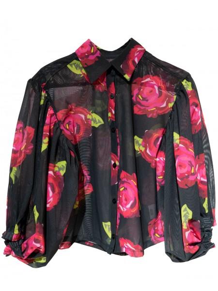 Roses Globe Sleeves Shirt