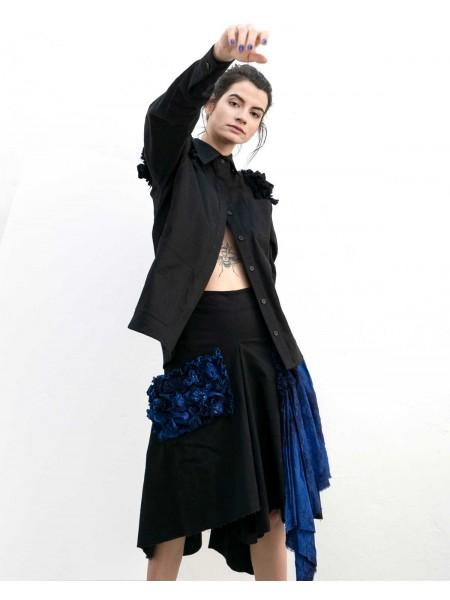 Oversized one pocket skirt