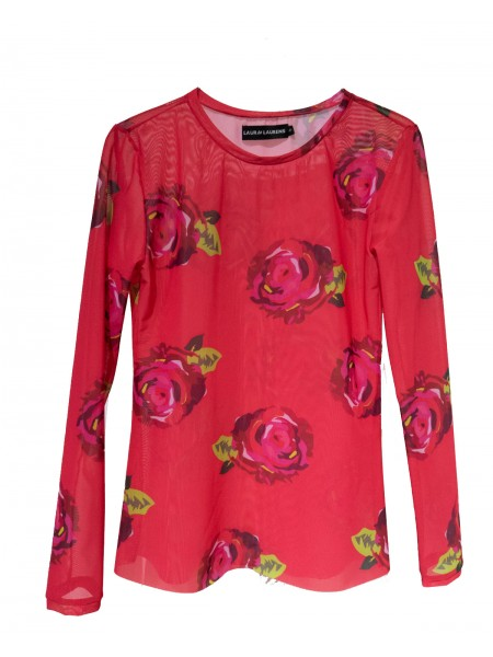 Roses Tulle Top