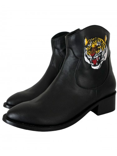 Upcycled Angry Tiger Boots